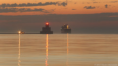 Freighter At Dawn (David C. McCormack) Tags: americana artistic boat cityscape eos eos6d greatlakes harbor lakemichigan lakefront lake landscape lighthouse midwest milwaukee outdoor sunrise sunriseset wisconsin water
