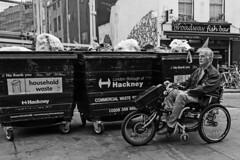 Hackney Carriage.. (Nicky Napkins) Tags: blackwhite hackney broadwaymarket bike wheelchair eastlondon