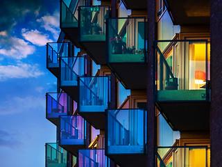 Kleurijke Balkons aan ruysdaelstraat
