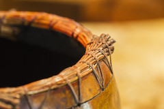 "Indian basket- 7DWF ""macro Wednesday"" (Karon Elliott Edleson) Tags: macrophotographyunlimited macrophotography creativetabletopphotography basket handmade rustic woven wood 7dwf"