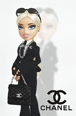 """Modeling Madness Cycle 3 - """"Battle of The Teams"""" // Photoshoot N°3 : """"Chanel Campaign"""" // Ginger Fox (DollTheRage) Tags: bratz dolls ooak one kind shine bright yasmin party 2010 doll reroot restyle karl lagerfeld barbie chanel designer deluxe purse hot model top modelling madness"""