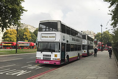 Imperial Coaches of Slough Volvo Olympians S303 YOO and S907 YOO, Marble Arch, 26th September 2017 (aecbus) Tags: s303yoo s907yoo 98d20430 98d20432