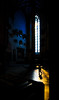 through a warm ray of light (human_wildlife) Tags: complementary composition light shadow orange blue churche minster ulm germany child kid infant leading lines contrast silhouette sony a6000 samyang 12mm f20 dreamy window greatshot