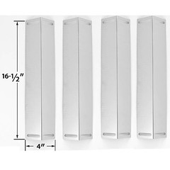4-PACK-STAINLESS-STEEL-HEAT-SHIELD-FOR-SMOKE-HOLLOW-PS9500-PS9900-UNIFLAME-GBC976W-CHARBROIL-BRINKMANN-MASTER-CHEF-GAS-MODELS (grillpartszone) Tags: stainless steel heat shield smoke hollow bbq gas grill replacement parts