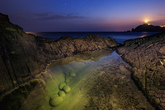 Punta Baja (Antonio_Luis) Tags: punta baja parque natural cabo de gata faro nocturna ocaso atardecer mar mediterraneo roca basalto luz noche larga exposicion naturaleza paisaje landscape marino lightpainting