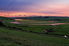 Cuckmere River in East Sussex. (Harrison Grimwood) Tags: sevensisters eastsussex sussex twilight river cuckmere uk