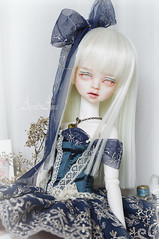 Teal Carousel (AyuAna) Tags: bjd ball jointed doll dollfie ayuana design handmade ooak clothing clothes dress outfit fantasy kawaii lace style dim dollinmind benetia open eyes version hybrid withdoll msd girl body whiteskin