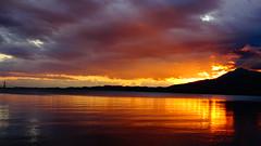 """Ηλιοβασιλεμα Ναυπακτος DSC01567 (omirou56) Tags: 169ratio sonydschx60v ηλιοβασιλεμα δυσηηλιου ναυπακτοσ αιτωλοακαρνανια συννεφα θαλασσα ελλαδα αντανακλαση clouds greece hellas sunset nafpaktos aitoloakarnania sea reflection outdoor κορινθιακοσκολποσ """"sonyflickraward saariysqualitypictures wow"""