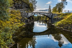 Old bridge over Rødlielva (Einar Schioth) Tags: oldbridge river rocks road rock day sky summer sunshine sun trees tosbotn canon clouds cloud coast cliff canyon vividstriking nationalgeographic ngc norway norge nature nordland nesna landscape lake photo picture outdoor einarschioth