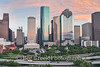 Sunset Over Houston-Downtown2 (tod grubbs) Tags: houston skyline sunset downtown artdistrict cityscape ih45 highway cityhall highrises skyscrapers aerial muesums clouds city largestcity tallestbuilding