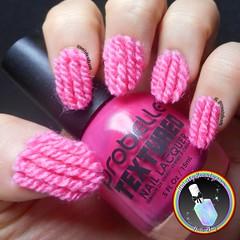 3D Wooly Yarn Nails (ithinitybeauty) Tags: 3d wool yarn crafts hobbies fabrics knitwear style fashion cosmetics nails nailpolish notd picoftheday pink wooly texture nail art nailart nailartist artist crazy nailswag nails2inspire