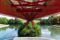 Under the bridge (•Nicolas•) Tags: art axe balade cergy color couleur m9 majeur walk bridge passerelle pont nicolasthomas