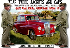 Get the  real vintage look  part 2 (80s Muslc Rocks) Tags: nz newzealand car cars auto autos vehicle vehicles retro vintage club rally vintagecar oldcar canon cavalrytwilltorusers wool plaid scottish scotland british uk thetweedride tweedflatcap cheesecutter gent man fashion oldschool houndstooth outdoor sky grass oldcars parked carshow poster artwork manwearingtweed wearrtweed yorkshire auckland whangarei tauranga gisborne hastings napier hamilton newplymouth plamerstonnorth wellington nelson christchurch dunedin invercargill distinguishedgentlemensride sydney london melbourne