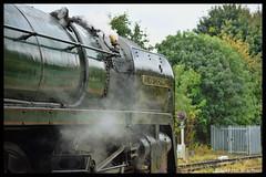 No 70013 Oliver Cromwell 8th Oct 2017 Wymondham (Ian Sharman 1963) Tags: no 70013 cromwell 8th oct 2017 wymondham oliver class 7mt britannia 462 station engine railway rail railways train trains loco locomotive passenger tour 1z68 the peak forester steam wcr west coast