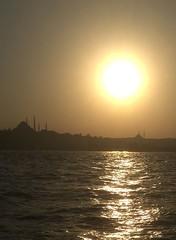 Sunset in Istanbul (amr.helwani) Tags: istanbul boattrip