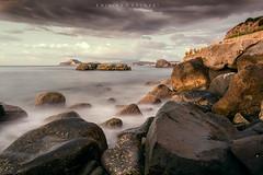 Lost in the middle of a dream... (Emykla) Tags: sea mare rocks onde waves pozzuoli italia italy nikon clouds d3100 nuvole campania welcomeincampania rough agitato