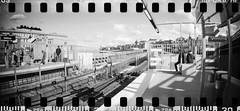 2017-06 - 089SR - DSC_2322 (sarajoelsson) Tags: sprocketrocket blackandwhite bw panorama panoramic sprocketholes digitizedwithdslr toycamera ilford 135 35mm hp5 monochrome plasticlens everydaylife filmphotography filmisnotdead believeinfilm filmshooter film wideangle lomography lomo city urban xtol teamframkallning bnw svartvitt blackwhite stockholm sweden ordinarylife 2017 vardag june summer summertime