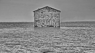 Minimalism: Shades of grey on water