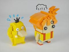 Misty (BrickHeadz) 2.0 & Psyduck (YOS Bricks) Tags: misty psyduck pokémon brickheadz