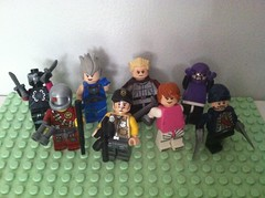 """It's like a bloody recurring nightmare."" (Gallisuchus) Tags: custom lego dc minifigures suicide squad task force x black spider deadshot killer frost rick flag count vertigo plastique thinker captain boomerang"