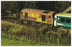 1D34 -  'Manwag' 18th (peterdouglas1) Tags: arrivatrains manwag dbcargo ews class67 67016 talybont skips bridge 148 northwalescoastrailway