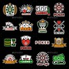 Casino Poker Logo Templates. Vector Set (Miscellaneous) (hypesol) Tags: card casino chip club crown diamond dice gamble gambling game gold heart horseshoe icon jackpot logo lucky number play poker roulette royal set seven spade suit template vector wheeloffortune winner
