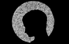 Young man with halo (Phancurio) Tags: silhouette halo youngman blackandwhite profile macro