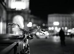 Bike bokeh fetish (beatutifulgrain.com) Tags: ilforddelta3200 mamiya6451000s mamiyasekor80mm19 bokeh