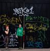 Smoke break (kriomant) Tags: people city graffiti colorful smoking break