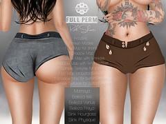 [GUNSHOT] RUTH Shorts with leaves - Full Perm ({ GunShot }) Tags: second life secondlife fullperm full perm maitreya belleza slink shorts