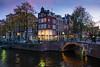 Keizersgracht / Leidsegracht (mickle229) Tags: amsterdam europe netherlands canal gracht keizersgracht leidsegracht twilight dusk lights nederland bridge