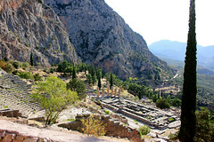 The theatre & Temple of Apollo (ika_pol) Tags: unesco unescogreece worldheritage greece delphi antiquity ancient ancientgreece ancientruins geotagged parnassusmountains