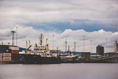 Belfast (Justyna Żychniewicz) Tags: belfast city urban port ferry ferries ferrybank titanic northern ireland cityscape citylights citycenter citylife clouds cloud cloudporn ship ships boat