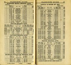 1910 Waghorn's Guide, C.P.R. Schedule Winnipeg Beach (arbutushilldesign) Tags: gimli winnipegbeach cpr
