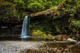 Sgwd Gwladys - a weak summer flow