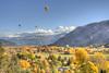 fall balloon rally Animas Valley (maryannenelson) Tags: colorado durango fall balloonrally hotairballoons autumn landscape sky