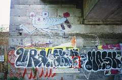Вул Рейтарська, Київ (slo:motion) Tags: київ україна kyiv kiev ukraine graph graffiti tags tag ura etc uraetc abandoned streetart art fuji provia400x contaxt2 mask gf maskgf