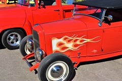 Classic car show (thomasgorman1) Tags: truck red carshow show event arizona parker classic nikon outdoors park