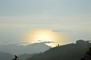 da Monte Erice: ultime luci sul mare di Trapani