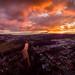Sonnenuntergang im Wolkenchaos