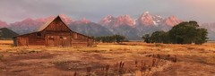 Panorama at Moulton Barn (Jeff Clow) Tags: jacksonhole iphone usa wyoming thomasmoultonbarn