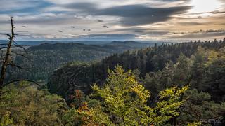 Elbsandsteingebirge in autumn