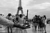 Eiffel Tower (michael.mu) Tags: paris france eiffeltower leica m240 50mm leicanoctiluxm50mmf095asph noctilux bw blackandwhite silverefexpro trocadero streetphotography