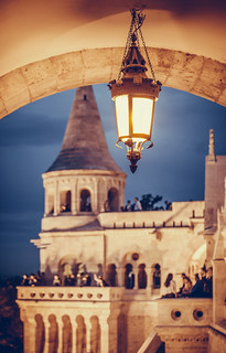 Blue hour in fisherman's Bastion,Budapest.