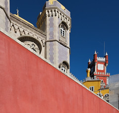 Colour attack @ Sintra (Marian Pollock (Weiler)) Tags: europe portugal sintra castle colourful architecture sunny angles
