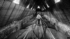 under the top off the cathedral (Rudy Pilarski) Tags: thepassionphotography architecture architectura nb bw équateur equador top toit cathedral cathédrale voyage travel ngc quito ligne line pont passerelle abstrait abstract street