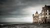 Mont St. Michel - rampards (Boudewijn Vermeulen ) Tags: frankrijk holiday montstmichel normandië normandy travel castle citywalls clouds cloudy coast fog mood ocean publ sea town unesco vakantie water
