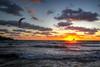 Flight to the sun (Siuloon) Tags: sun sea sunlight malta kitesurfing goldenbay għajn tuffieħa wind sport ghaintuffieha