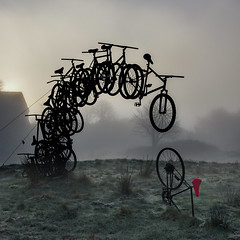 Bicycle Art A Fogy Sotra Morning (aha42   tehaha) Tags: 500x500 square fog sotra fjell straume art frosty morning norge norway noreg