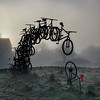 Bicycle Art A Fogy Sotra Morning (aha42 | tehaha) Tags: 500x500 square fog sotra fjell straume art frosty morning norge norway noreg